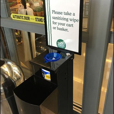 Whole Foods Cart Sanitizer Wipes 2