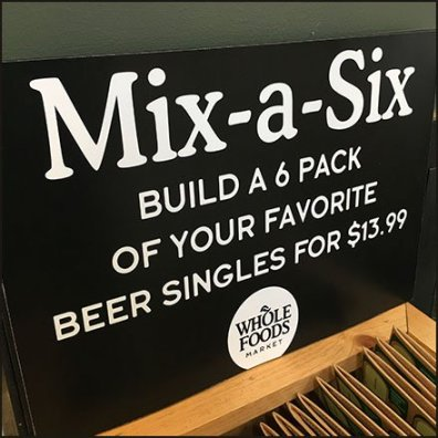 Whole Foods Mix a Six Pack Craft Beer Feature
