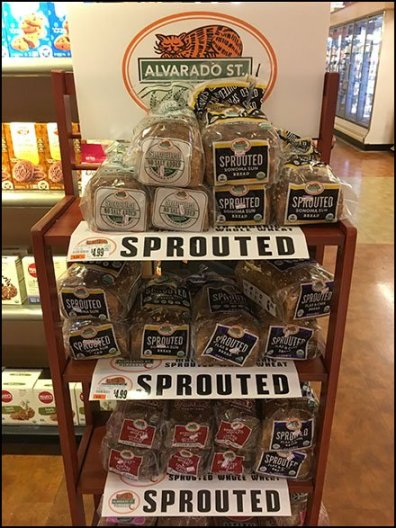 Sprouted Wheat Bread Aisle-End Rack