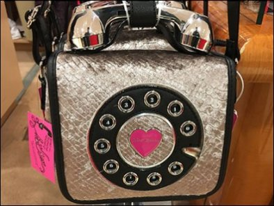 Betsy Johnson Telephone Purse T-Stand Display