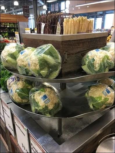 Iced Cauliflower and Asparagus Tower