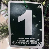 Chinese Christmas Tree Country of Origin Tag