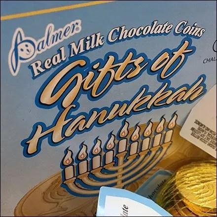 Hanukkah Chocolate Mesh Merchandising