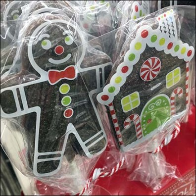 Christmas Gingerbread Holiday Lollipop Display