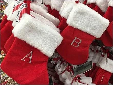 Christmas Stockings Grid Hook Hung