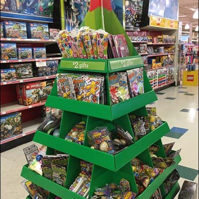 Christmas Tree Shaped Corrugated Display