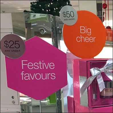 Clinique Christmas Wishes Table Stand Signs Feature
