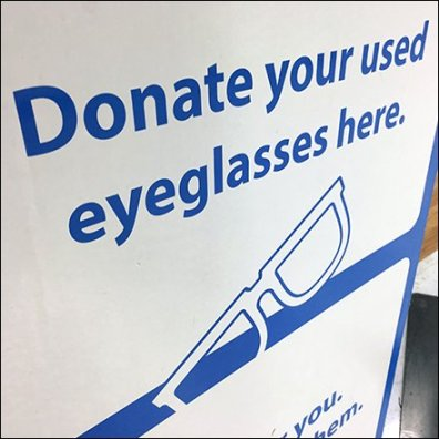 Donate Used Eyeglasses Here Square