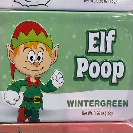 Elf, Snowman, and Reindeer Poop Merchandiser