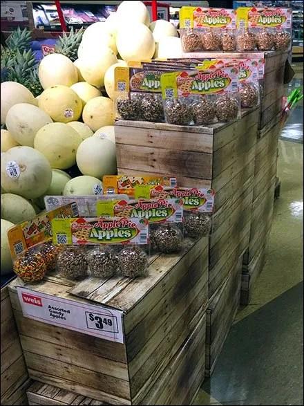 Fall Taffy Apple Corrugated Crate Display