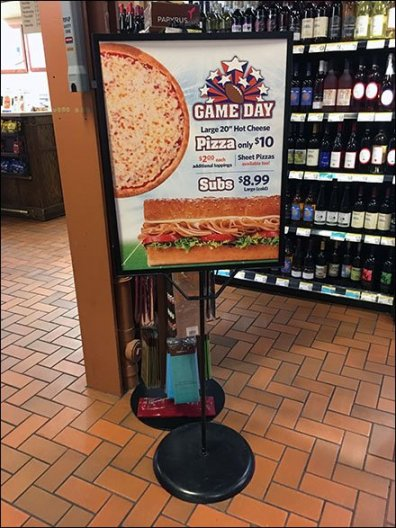 Game Day Pizza and Subs Sign Stand
