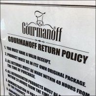 Gourmanoff Return Policy Feature