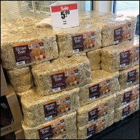 Fall Straw Bale Entry Display At JoAnn's
