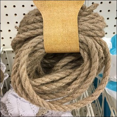 Jute Rope Skein Merchandising by Scan Hook Feature