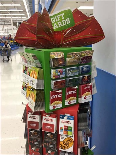 Mini Christmas Gift Card Tower at Walmart