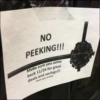No Peeking Black Friday Specials