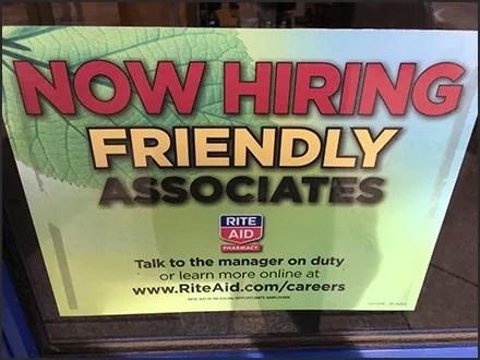 Now Hiring Friendly Sales Associates