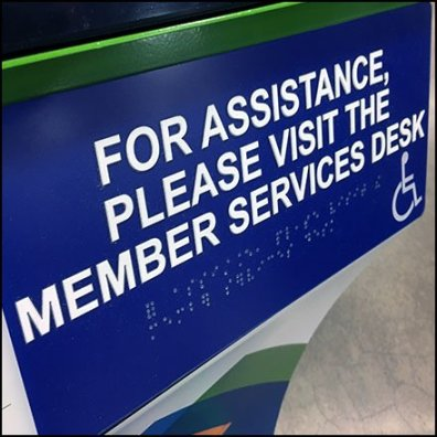 On-Line In-Store Pickup Assistance in Braille