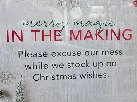 Pardon The Christmas Construction Mess