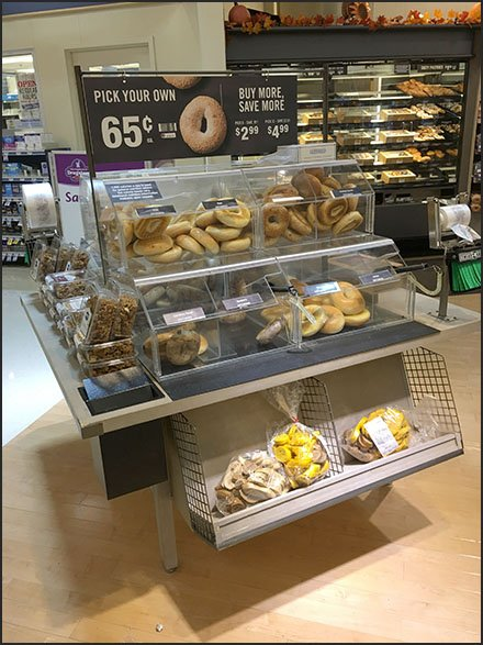 Pick Your Own Bagel Display in Clear Acrylic