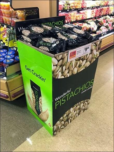 Pistachios Get Crackin Corrugated Aisle Display