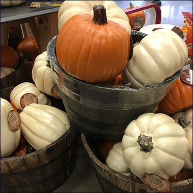 Pumpkin Wood Tub Bulk Bins Feature