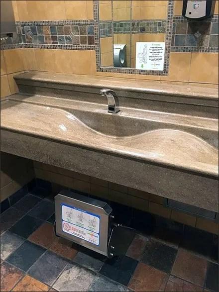 Restroom Use Instructions For Step-N-Wash