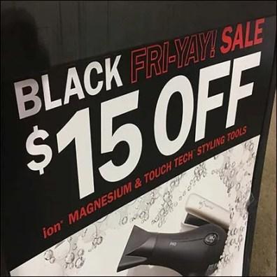 Sally Beauty Black Friday Sale Easel