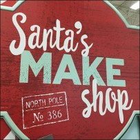 Santa's North Pole Work Shop Invitation