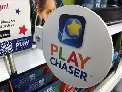Shelf-Edge Flag Promotion for Play Chaser
