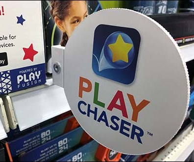 Shelf-Edge Flag Promotion for Play Chaser