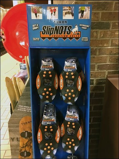 SlipNots Traction Soles Hooked In Grocery