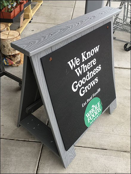 Know Where Goodness Grows Sign Easel