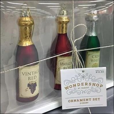 Wine Bottle Christmas Ornaments by Wondershop