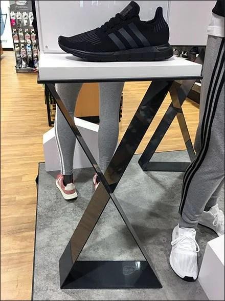 Adidas Swift Dual Pedestal Shoe Display – Fixtures Close Up
