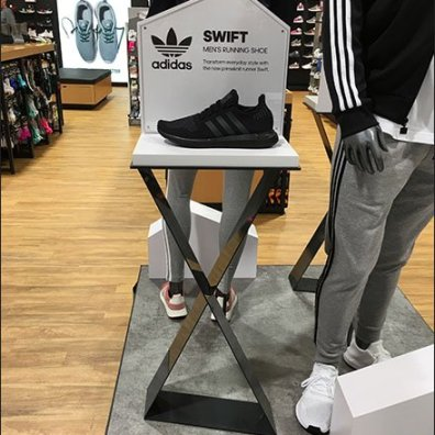 Adidas Swift Dual Pedestal Shoe Display