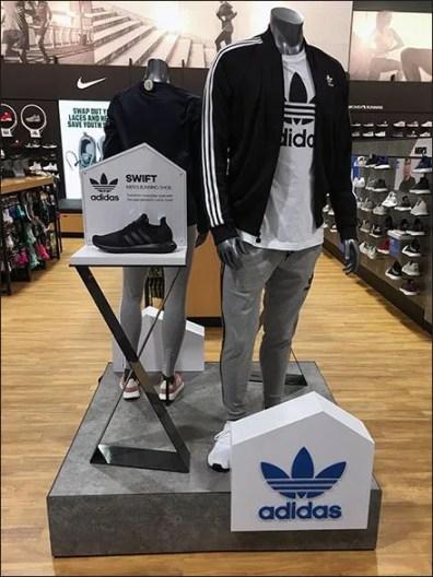 Adidas Swift Dual Pedestal Shoe Display