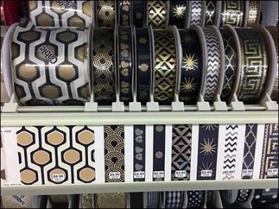 Circular Spool Ribbon Shelf Merchandising