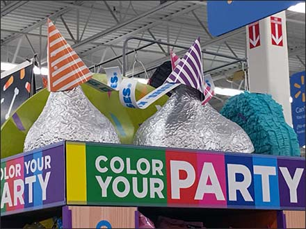 Color Your Party Hershey's Kisses Party Hats