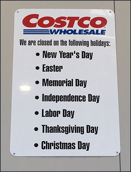 Holiday Hours Scheduled In Advance For Retail