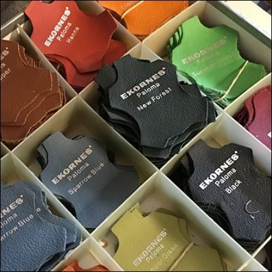 Leather Hide Fabric Color Samples by Ekornes