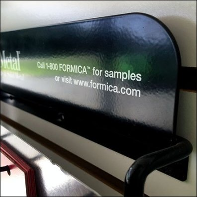 Formica DecoMetal Samples Slatwall Standoffs