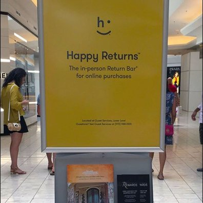 Returns Happily Accepted At Short Hills Mall