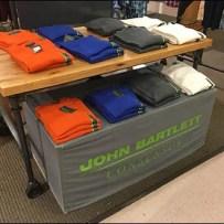 John Bartlett Branded Table Drape and Backdrop