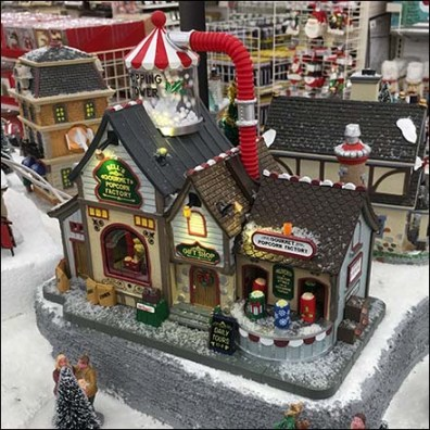 Lemax Gourmet Popcorn Factory Christmas Village Feature