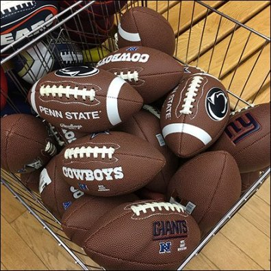 Branded NFL Football Open-Wire Bulk-Bin
