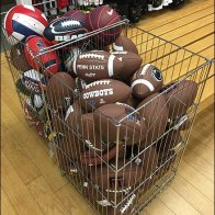 Branded NFL Football Open Wire Bulk Bin