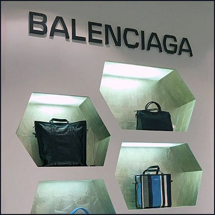 Balenciaga Purse Hexagonal Wall Niche Display