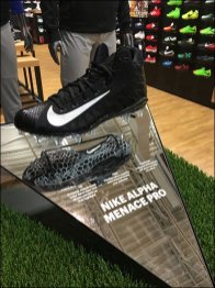 Nike Mirrored Athletic Shoe Cleat Display