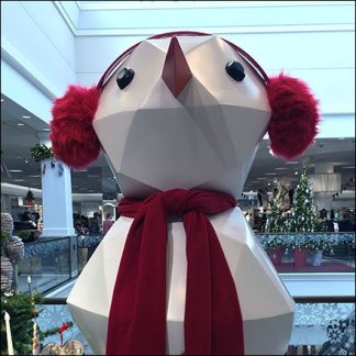 Nordstrom Giant Snowman Polyhedron Feature